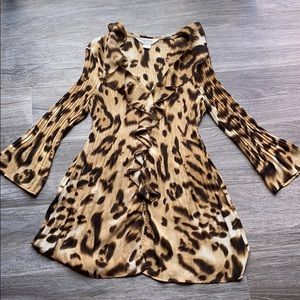 Allison Taylor cheetah print blouse